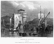 Boatman Framed Prints - Greece: Negropont, 1833 Framed Print by Granger