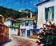 Greece Painting Originals - Greece  new by Leonid Afremov