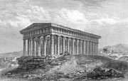 1833 Framed Prints - Greece: Temple Ruins Framed Print by Granger
