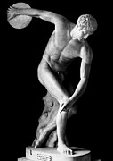 Throw Photo Prints - Greece: The Discobolus Print by Granger