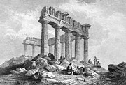 1833 Photo Framed Prints - Greece: The Parthenon 1833 Framed Print by Granger