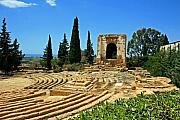 Sicily Prints - Greek Amphitheater Print by Chuck Wedemeier