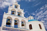 Domes Prints - Greek Bell Tower Print by Brian Jannsen