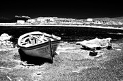 Delos Prints - Greek Boat Print by John Rizzuto