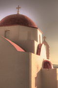 Evening Light Photos - Greek Church by Joana Kruse