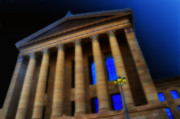 Art Museum Digital Art - Greek Columns Philadephia Art Museum by Bill Cannon