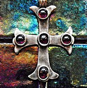 Byzantine Posters - Greek Cross 3 Poster by Sarah Loft
