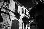 Narrow Streets Prints - greek cypriot military position overlooking restricted area of the UN buffer zone nicosia cyprus Print by Joe Fox