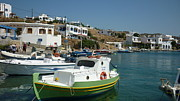 Boat Photos - Greek Fishing Boats by Therese Alcorn