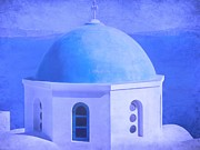 Religious Still Life Prints - Greek Landmark Print by Sophie Vigneault