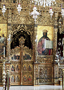 Religious Prints Photos - Greek Orthodox Alter by John Rizzuto