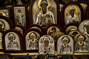 Religious Photo Prints - Greek Orthodox Church Icons Print by David Smith