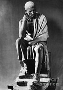 Greek Sculpture Posters - Greek Philosopher Poster by Photo Researchers
