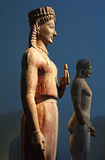 Greek Sculpture Metal Prints - Greek Sculpture Athens 1 Metal Print by Bob Christopher