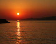 Crete Prints - Greek sunrise Print by Paul Cowan