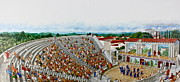 Stage Mixed Media Originals - Greek Theater  by Cliff Spohn