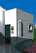Villa Paintings - Greek Villa by Kris Sperring