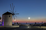 Ferry Photos - greek windmill - Cyclades by Joana Kruse