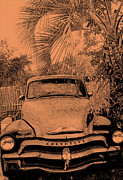 Old Pyrography Posters - Greeks Truck Poster by Gerald Cooley