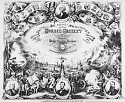 Greeley Framed Prints - Greeley: Election Of 1872 Framed Print by Granger