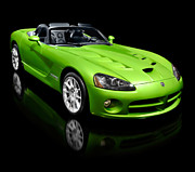 Super Car Prints - Green 2008 Dodge Viper SRT10 Roadster Print by Oleksiy Maksymenko