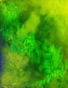 Op Art Digital Art Originals - Green Abstract by William Burgess