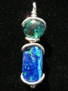 Blue Jewelry - Green Amethyst over Foamy Waters by Julie Buell