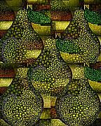 Terry Mulligan - Green Anjou Pear Abstract