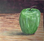 Bistro Paintings - Green Apple by Sheri Parris