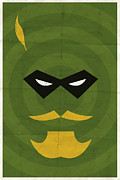 Green Digital Art Posters - Green Arrow Poster by Michael Myers