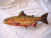 Numbered Reliefs - Green Back Cut Throat Trout number 2 by Lisa Ruggiero