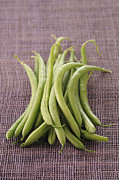 Green Bean Framed Prints - Green Beans Framed Print by Jupiterimages