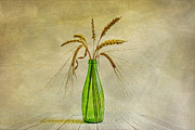 Wheat Digital Art - Green bottle by Veikko Suikkanen