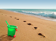 Footprints Photos - Green Bucket  by Carlos Caetano