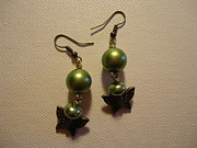Dangle Jewelry - Green Butterfly Earrings by Jenna Green