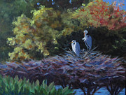 Great Outdoors Paintings - Green Cay Family by Anne Marie Brown