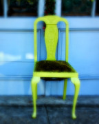 Vintage Chair Prints - Green Chair Print by Perry Webster