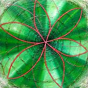 Metaphysics Prints - Green Chakra Print by Anne Cameron Cutri