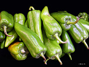 Chilies Posters - Green Chilies Poster by Methune Hively