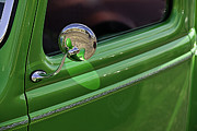 Pickup Truck Door Posters - Green Classic Pickup Door Poster by M K  Miller