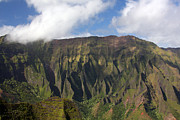 Napali Prints - Green Cliffs Print by Jeff Bord