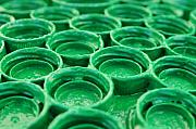 Bottlecap Metal Prints - Green Metal Print by Dan Holm