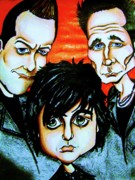 Green Day Digital Art Posters - Green Day Poster by Penny  Elliott