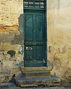 Green Door Prints - Green Door in France Print by Marion McCristall