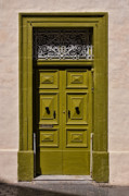 Rabat Prints - Green Door  Print by Joerg Lingnau