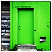 Bright Acrylic Prints - Green Door Acrylic Print by Julie Gebhardt