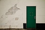 Rectangles Photos - Green Door by Odd Jeppesen