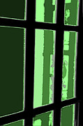 French Door Prints - Green Door Print by Valerie Rakes