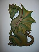 Fantasy Reliefs Originals - Green Dragon Plaque by Shane  Tweten