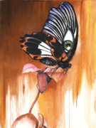 African-american Mixed Media - Green Eye Butterfly by Anthony Burks